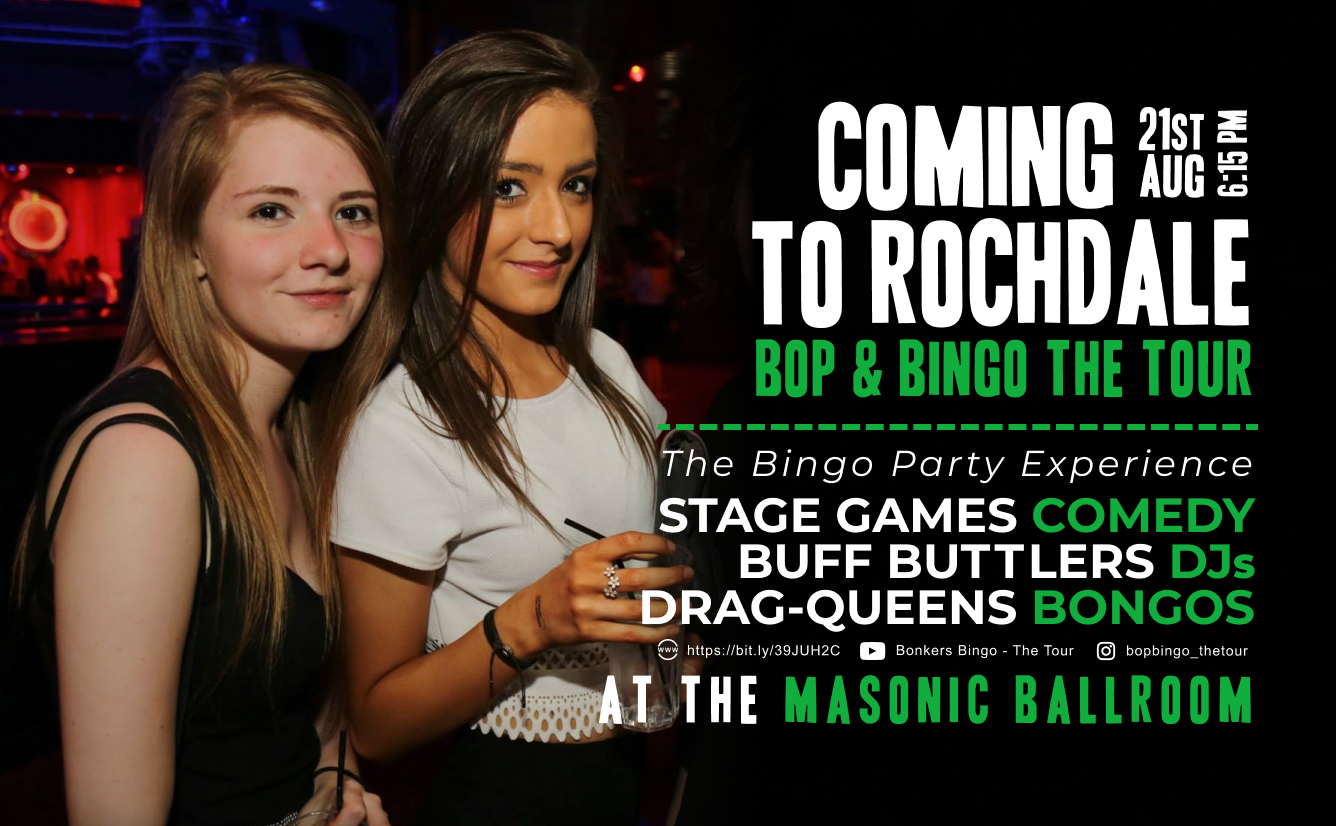 Bop & Bingo - The Tour   Change of Venue   Was The Flying Horse   NOW The Masonic Hall   Rochdale