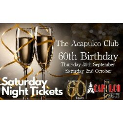 The Acca | Saturday Night 60th Birthday Party | 2nd October 2021